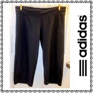 {Adidas} Climalite black activewear capris, sz M